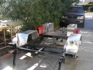 Custom Trailer Frame by Compact Camping Trailers